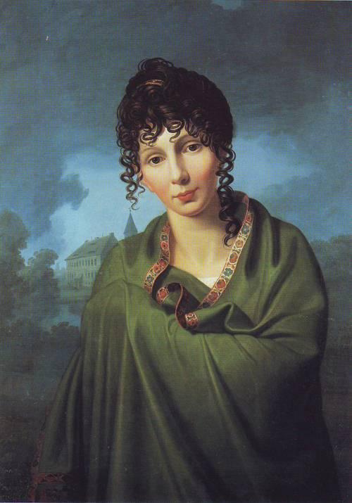 Coutess Luise Von Voss | Friedrich Bury | oil painting