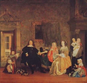 Burgomaster Gillis Valckenier And His Family | Gabriel Metsu | oil painting