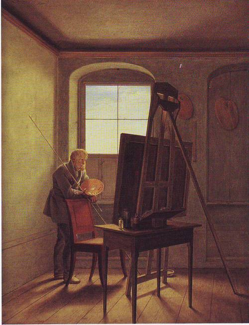 Caspar David Friedrich In His Studio | Georg Friedrich Kersting | oil painting
