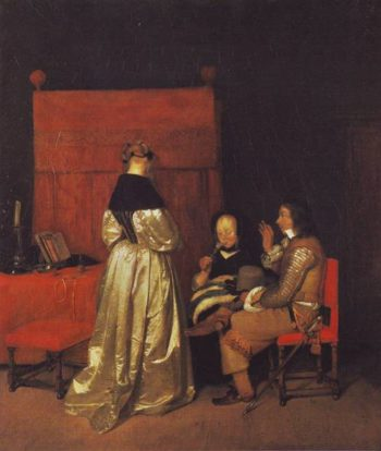 The Fatherly Admonition | Gerard Terborch | oil painting