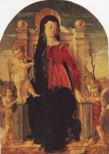 Madonna And Child Enthroned | Giorgio Schiavone | oil painting