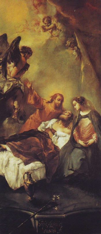 The Death Of Joseph | Giovanni Antonio Guardi | oil painting