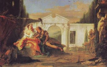 Rinaldo And Armida Overheard By Carlo And Ubaldo In Armidas Magic Garden | Giovanni Battista Tiepolo | oil painting