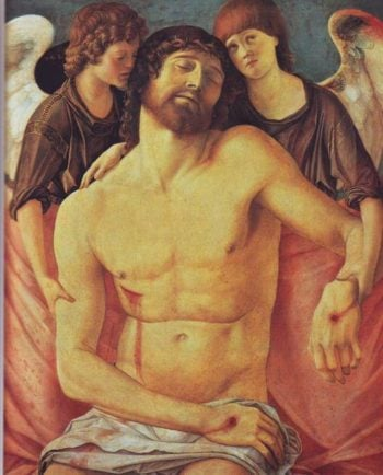 Dead Christ Supported By Two Angels | Giovanni Bellini | oil painting