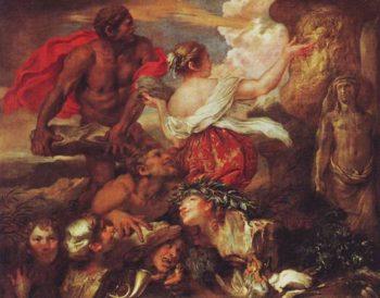 Pyrrha And Deucalion | Giovanni Benedetto Castiglione | oil painting