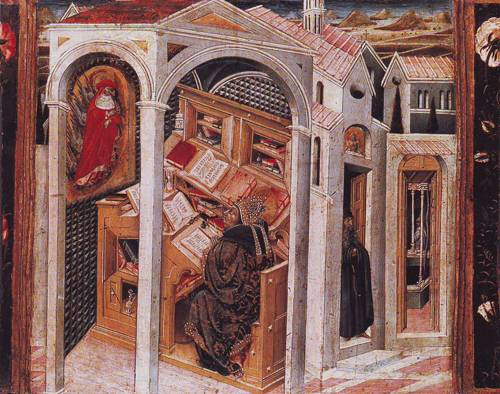 St.Jerome Appearing To St Augustine | Giovanni Di Paolo | oil painting