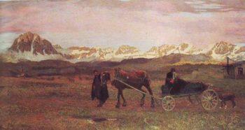 The Lawt Journey | Giovanni Segantini | oil painting