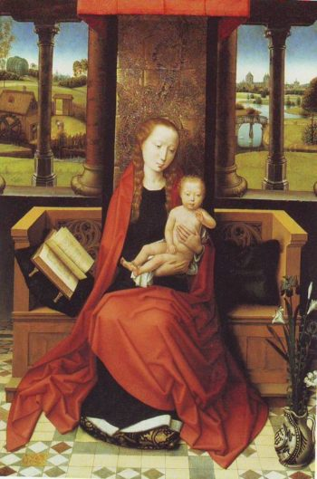 Madonna And Child Enthroned | Hans Menling | oil painting