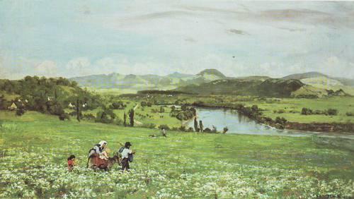 The Rhine Near Sackigen | Hans Thoma | oil painting