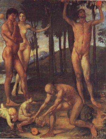 Das Orangenbild The Four Ages Of Man | Hans Von Marees | oil painting
