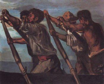 The Oarsmen | Hans Von Marees | oil painting
