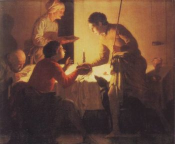 Esau Selling His Birthright | Hendrick Terbugghen | oil painting