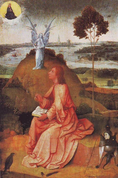 St John On Patmos | Hieronymus Bosch | oil painting