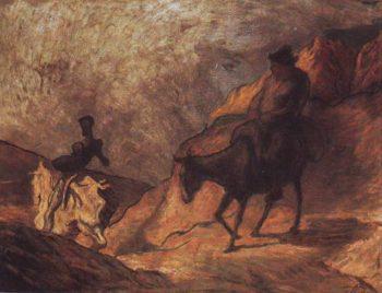 Don Quixote And Sancho Panza | Honore Daumier | oil painting