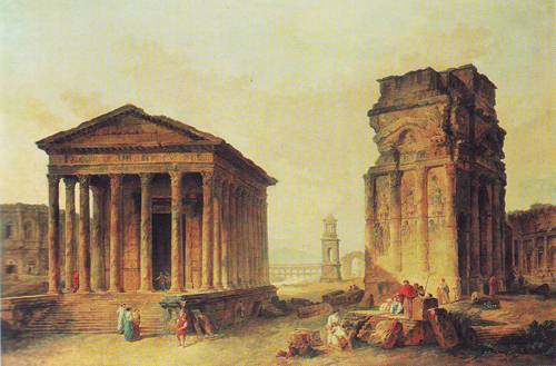 Ruins At Nimes | Hubert Robert | oil painting
