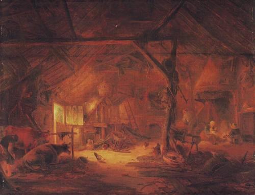 Barn Interior   Isack Van Ostade   oil painting