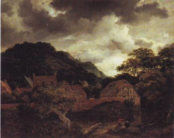 Village At The Woods'edge | Jacob Isaacsz Van Ruisdael | oil painting