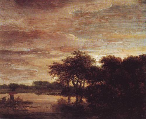 Woodland Scene With Lake | Jacob Isaacsz Van Ruisdael | oil painting