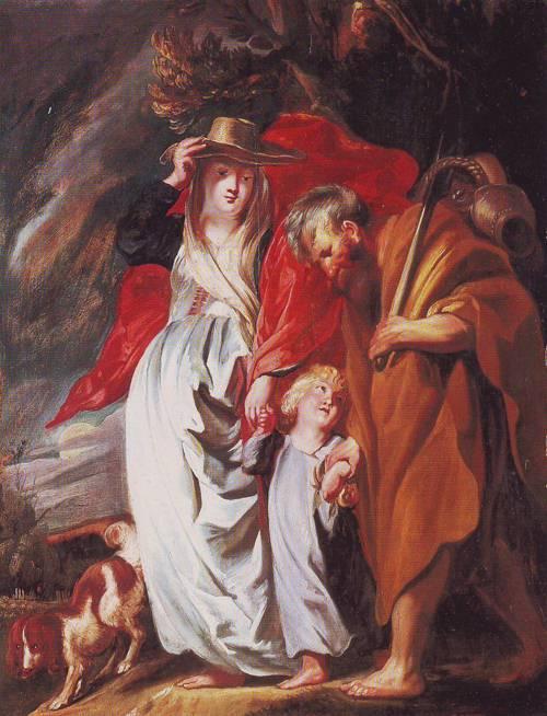 The Return Of The Holy Family From Egypt   Jacob Jordaens   oil painting