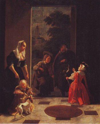 Itinerant Musicians | Jacob Ochtervelt | oil painting
