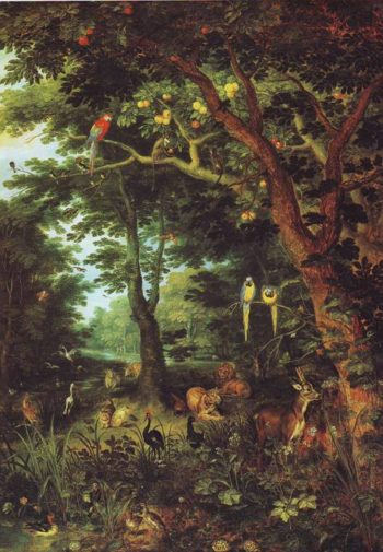 Paradise | Jan Brueghel The Younger | oil painting