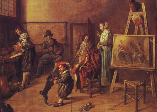 The Artists Studio | Jan Miense Molenaer | oil painting