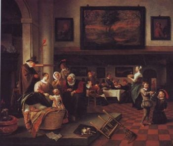 Baptism | Jan Steen | oil painting