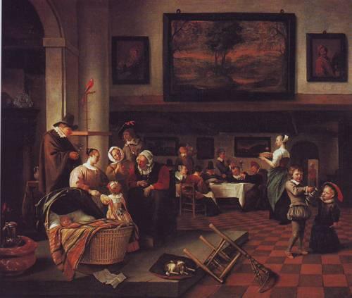 Baptism | Jan Steen | oil painting