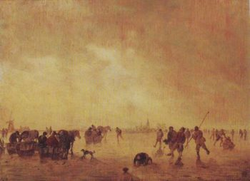 Landscape With Skaters | Jan Van Goyen | oil painting