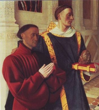 Estienne Chevalier With St.Stephen | Jean Fouquet | oil painting