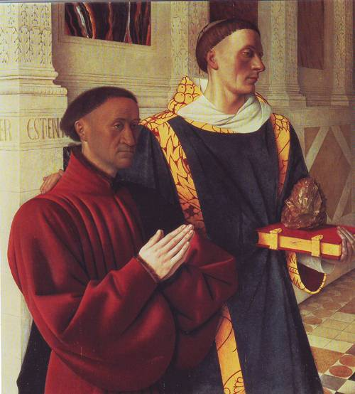 Estienne Chevalier With St.Stephen | Jean Fouquet | oil painting