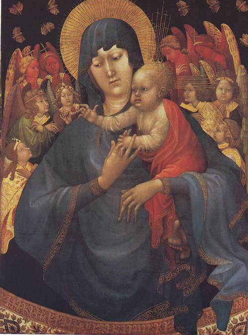 Virgin And Child With Angels | Jean Malouel | oil painting