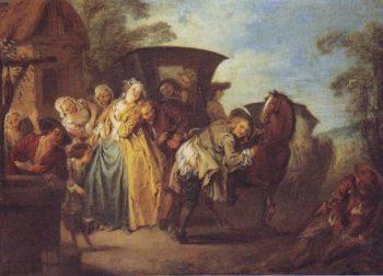 The Poet Roquebrune Breaks His Carter | Jean-Baptiste-Joseph Pater | oil painting