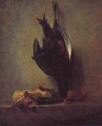 Dead Pheasant And Game Bag   Jean-Baptiste-Simeon Chardin   oil painting