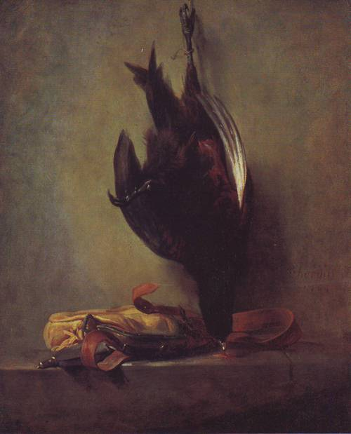 Dead Pheasant And Game Bag | Jean-Baptiste-Simeon Chardin | oil painting