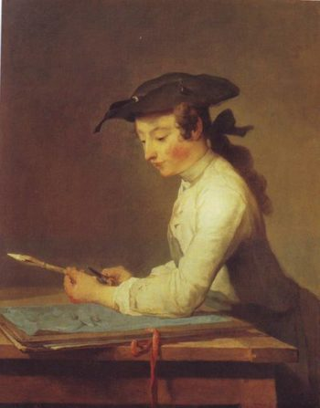 The Drawing Lesson | Jean-Baptiste-Simeon Chardin | oil painting
