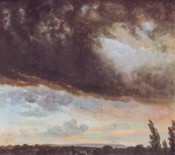Cloud Study With Horizon | Johan Christian Clausen Dahl | oil painting