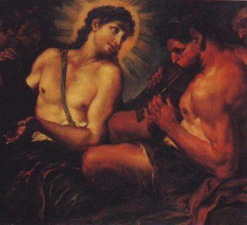 Apollo Pan And Marsyas | Johann Carl Loth | oil painting