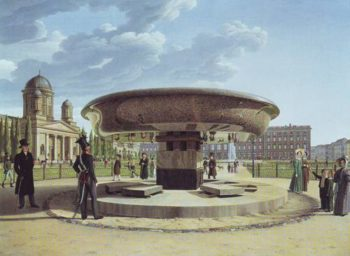 The Granite Basin In The Lustgarten | Johann Erdmann Hummel | oil painting