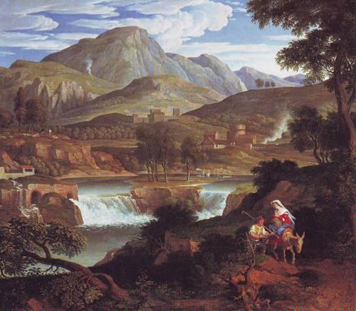 Waterfall Near Subiaco | Joseph Anton Koch | oil painting
