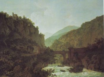 The Cloister Of San Cosimato | Joseph Wright | oil painting