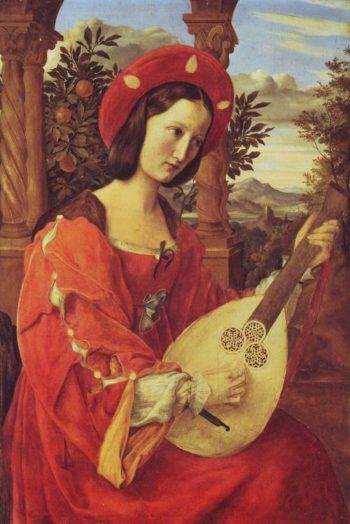 Clara Biance Von Quandt   Julius Schnorr Von Carolsfeld   oil painting