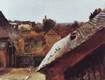 Aview Of Rooftops And Gardens | Karl Blechen | oil painting