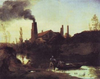 Rolling Mill | Karl Blechen | oil painting