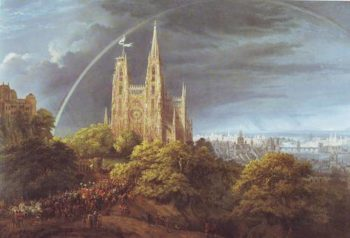 Gothic Cathedral With Imperial Palace | Karl Friedrich Schinkel | oil painting