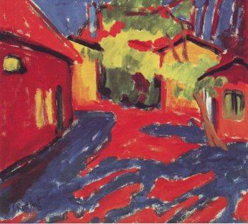 Gutshof In Dangast | Karl Schmidt-Rottluff | oil painting