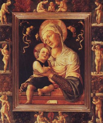 Madonna And Child In Painted Frame | Lazzaro Bastiani | oil painting