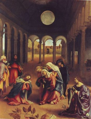 Christ Takig Leave Of His Mother | Lorenzo Lotto | oil painting