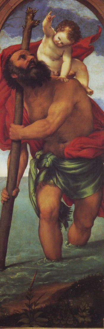 ST.Christopher | Lorenzo Lotto | oil painting