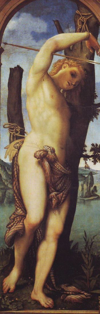 ST.Sebastian | Lorenzo Lotto | oil painting